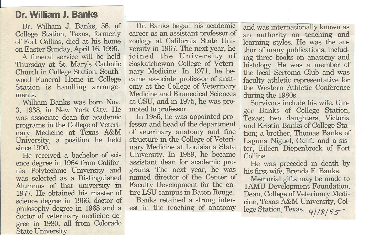 Obituaries B Larimer County Genealogical Society