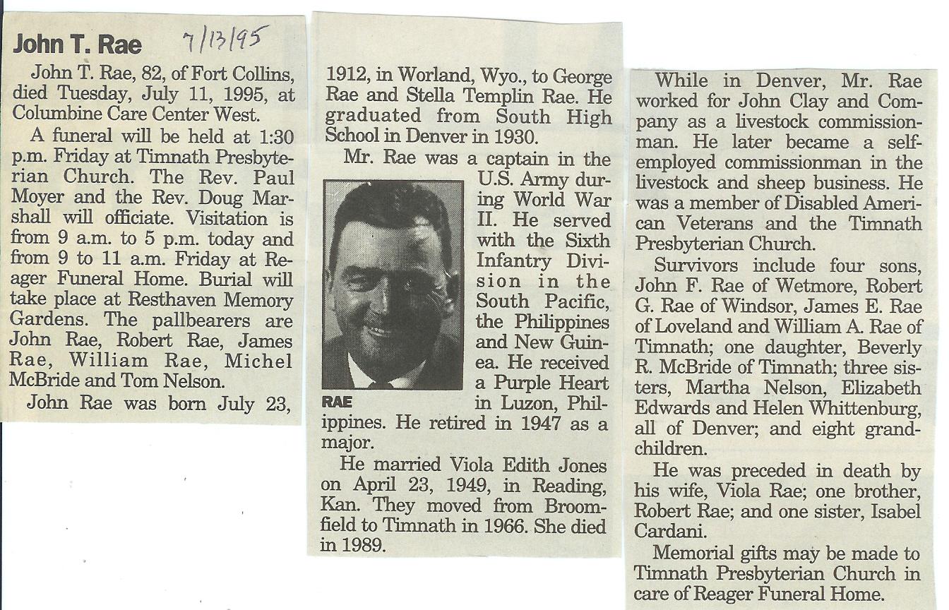 Obituaries – R – Larimer County Genealogical Society